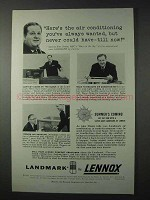 1958 Lennox Air Conditioning Ad - Alex Dreier