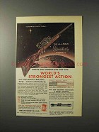 1958 Weatherby Mark V Rifle Ad - Strongest Action
