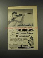 1958 Crosman 400 Gas-Powered Repeater Ad - Ted Williams