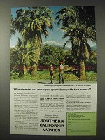 1958 Southern California Ad - Oranges Grow Beneath Snow