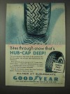 1958 Goodyear 3-T Suburbanite Tires Ad - Through Snow