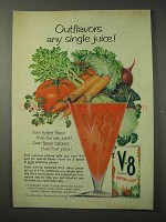 1958 V-8 Juice Ad - Outflavors Any Single Juice