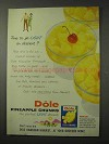 1958 Dole Pineapple Chunks Ad - Go Light on Dessert