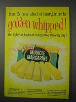 1958 Kraft Miracle Margarine Ad - Golden Whipped