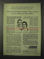 1958 Lennox Air Conditioning Ad - Heating Magic
