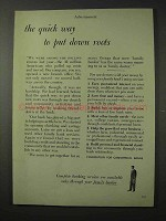 1958 Foundation for Commercial Banks Ad - Put Roots