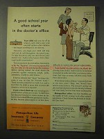1958 Metropolitan Life Insurance Ad - Good School Year