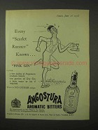 1958 Angostura Aromatic Bitters Ad - Scarlet Runner