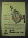 1958 Beefeater Gin Ad - A Lot More to Enjoy