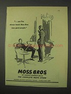 1958 Moss Bros Clothing Ad - Very Good People