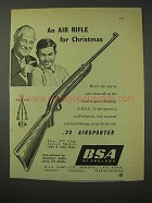 1958 BSA .22 Airsporter Air Rifle Ad - For Christmas