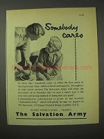 1958 The Salvation Army Ad - Somebody Cares