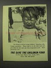 1958 The Save the Children Fund Ad - Crying Children