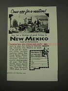 1958 New Mexico Tourism Ad - Come Now for a Vacation