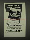 1958 Starcraft Boats Ad - Enjoy Your Boating