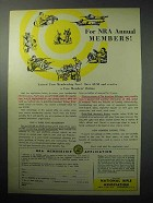 1958 National Rifle Association NRA Ad - Annual Members