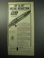 1958 BSA Rifle Ad - 40% to 60% Recoil Reduction