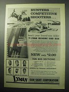 1958 Lyman Gun Sight Corporation Ad - Hunters