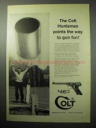 1958 Colt Huntsman Pistol Ad - Points The Way to Fun