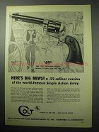 1958 Colt Frontier Scout Revolver Ad - Here's Big News