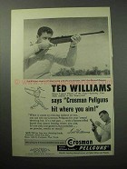 1958 Crosman Pellgun Ad - 400 Repeater, Ted Williams