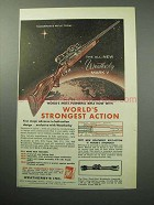 1958 Weatherby Mark V Magnum Rifle Ad - Strongest