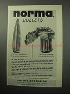 1958 Norma Bullets Ad - In the Barrel In The Game
