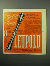 1958 Leupold 8 Power Westerner Scope Ad - Finest