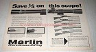 1958 Marlin Ad - 4x Micro-Vue Scope; Golden 39-A +