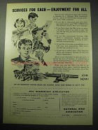 1957 National Rifle Association NRA Ad - Enjoyment