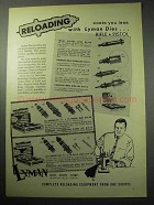 1957 Lyman Reloading Dies Ad - Costs You Less