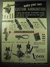 1957 Lyman Reloading Equipment Ad - Custom Ammunition