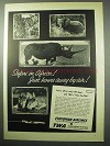 1956 TWA Ethiopian Airlines Ad - Safari in Africa