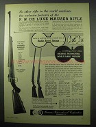 1956 F.I. Ad - F. N. De Luxe Mauser Rifle