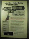 1956 Bausch & Lomb BALscope Sr. Spotting Scope Ad - Quicker