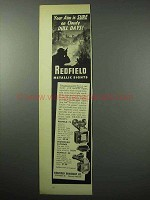 1956 Redfield Sight Ad - No. 70, sourdough patridge, 80