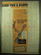 1956 Bushnell Scopes Ad - Lend You A Scope to Hunt