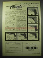 1956 Walther Mark II Pistol Ad - PPK, Superlight, PP +