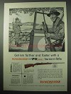 1956 Winchester Model 70 Varmint Rifle Ad - Get 'Em