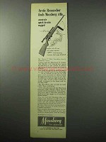 1956 Mossberg Model 142 Rifle Ad - Arctic Researcher