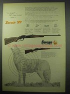1956 Savage 99 Rifle Ad - On Target 365 Days A Year