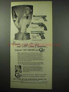 1956 Colt Gun Ad - Match Target, Officers Model Match +