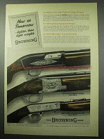 1956 Browning Gun Ad - Lightning Superposed Shotgun +