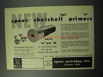 1956 Speer Shotshell Primers Ad