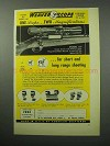 1956 Weaver KV Scope Ad - Two Magnifications