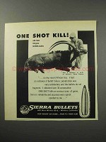 1956 Sierra Bullets Ad - One Shot Kill