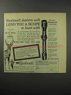 1956 Bushnell Rifle Scope Ad - Lend You to Hunt With