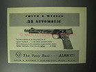 1957 Smith & Wesson .22 Automatic Pistol Ad