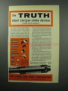1957 Lyman Cutts Compensator Ad - The Truth