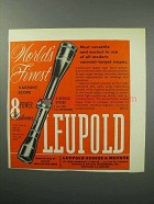 1957 Leupold 8 Power Westerner Scope Ad - Finest